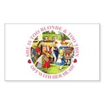 She is Too Blonde Sticker (Rectangle 10 pk)