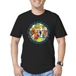 She is Too Blonde Men's Fitted T-Shirt (dark)