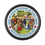 She is Too Blonde Large Wall Clock