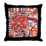 Poinsettia Power Throw Pillow