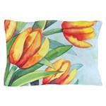 Tulips Watercolor Pillow Case