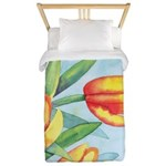 Tulips Watercolor Twin Duvet Cover