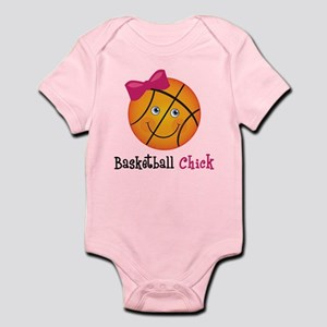 Pink Basketball Chick Infant Bodysuit