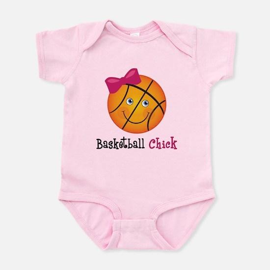 Pink Basketball Chick Infant Bodysuit