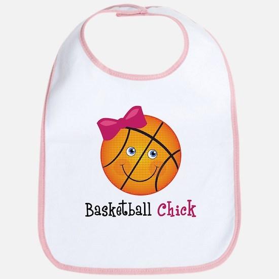 Pink Basketball Chick Bib