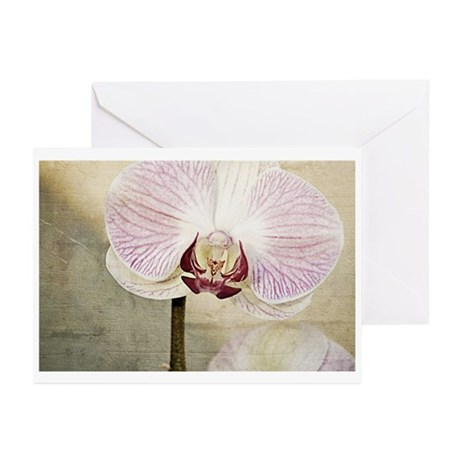 Pink Orchid Petal Greeting Cards (Pk of 10)