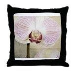 Pink Orchid Petal Throw Pillow