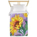 Sunflowers Watercolor Twin Duvet Cover