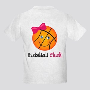 Basketball Chick Kids Light T-Shirt