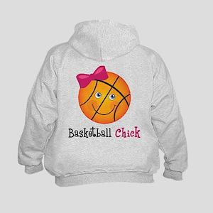 Basketball Chick Kids Hoodie