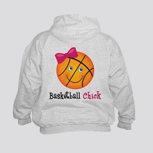 Basketball Chick Kids Sweatshirt