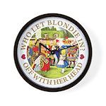 Who Let Blondie In? Wall Clock