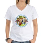 Who Let Blondie In? Women's V-Neck T-Shirt