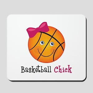 Pink Basketball Chick Mousepad