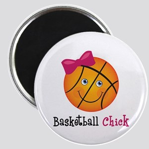 Pink Basketball Chick Magnet