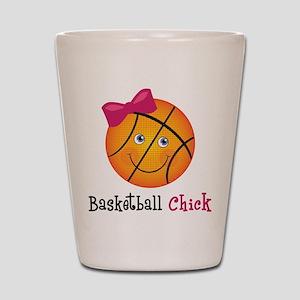 Pink Basketball Chick Shot Glass
