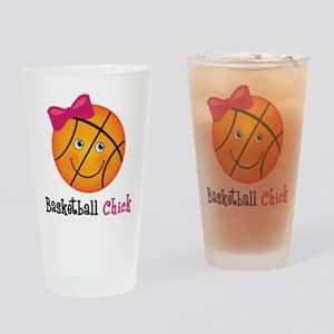 Pink Basketball Chick Drinking Glass