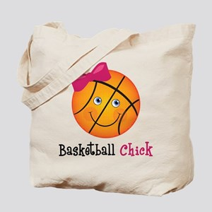 Pink Basketball Chick Tote Bag