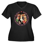 In This Crazy Place Women's Plus Size V-Neck Dark