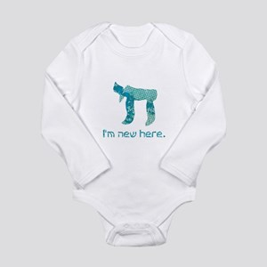 Chai, I'm new here! Long Sleeve Infant Bodysuit