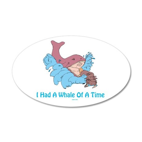 Whale of a Time Jonah 38.5 x 24.5 Oval Wall Peel