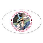 I Knew Who I Was Sticker (Oval)