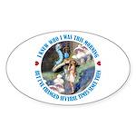 I Knew Who I Was Sticker (Oval 50 pk)