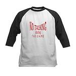 No Talking During Game Kids Baseball Jersey