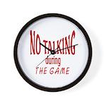 No Talking During Game Wall Clock