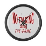 No Talking During Game Large Wall Clock