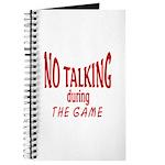 No Talking During Game Journal