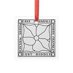 Marshall Park Square Glass Ornament