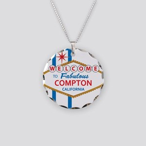 Welcome to Compton Necklace Circle Charm