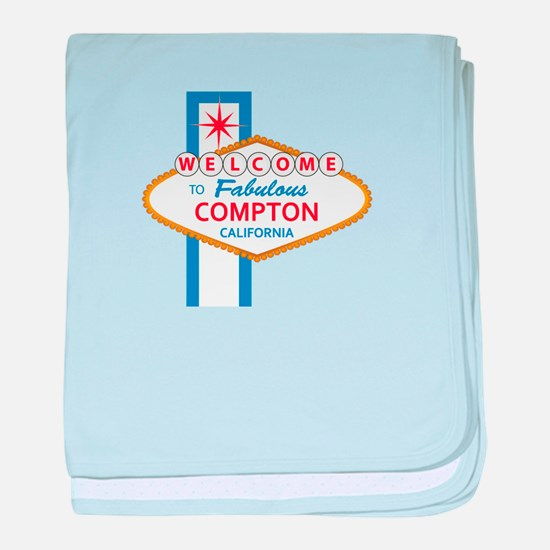 Welcome to Compton baby blanket