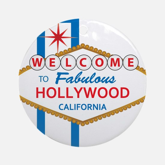 Welcome to Hollywood Ornament (Round)