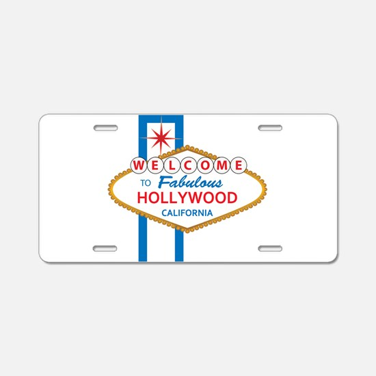 Welcome to Hollywood Aluminum License Plate