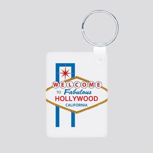 Welcome to Hollywood Aluminum Photo Keychain