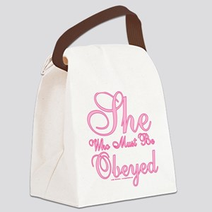 She who must be Obeyed Canvas Lunch Bag