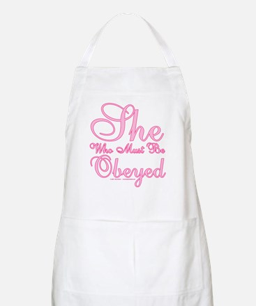 She who must be Obeyed Light Apron