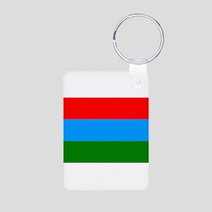 Karelia Flag Aluminum Photo Keychain
