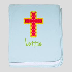 Lottie Bubble Cross baby blanket