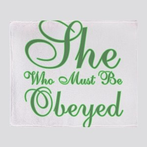 She who must be Obeyed Throw Blanket