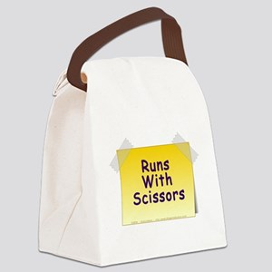 Runs With Scissors Canvas Lunch Bag