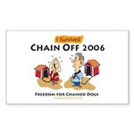 Chain Off 2006: Freedom for C Sticker (Rectangular