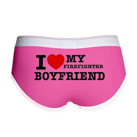 I love my Firefighter Boyfriend Women's Boy Brief