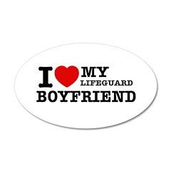 I love my Lifeguard Boyfriend 38.5 x 24.5 Oval Wal