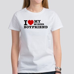 I love my Miner Boyfriend Women's T-Shirt