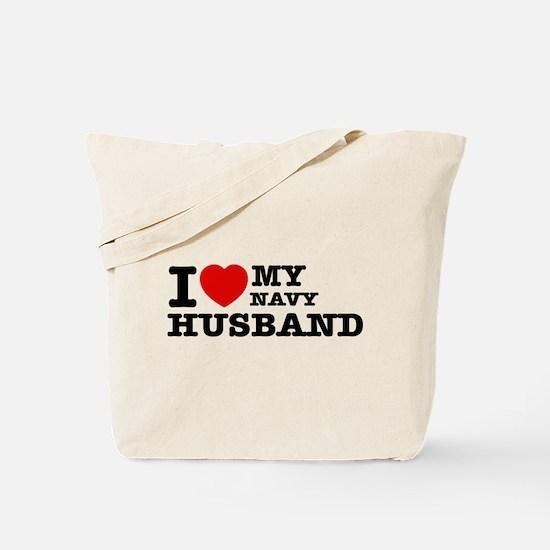 I love my Navy Husband Tote Bag