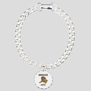 Bulldog Mom Charm Bracelet, One Charm