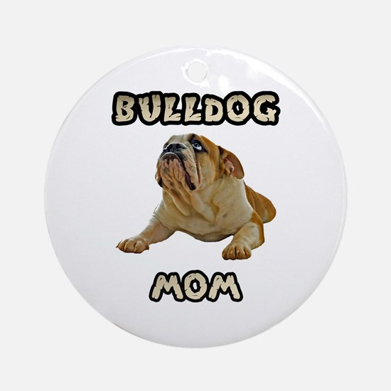 Bulldog Mom Ornament (Round)